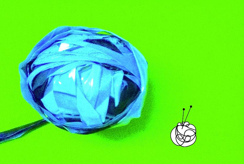 KNITMargrit strickt DIY Einkaufstüte aus Plastik