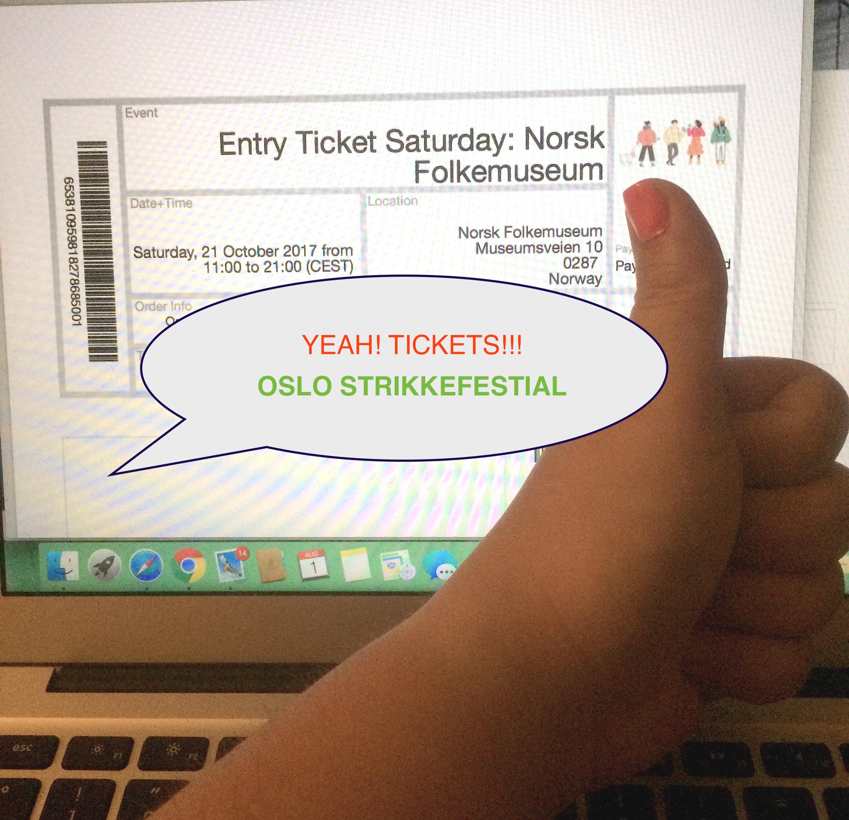 KNITMargrit fährt nach Oslo - Tickets für Oslo